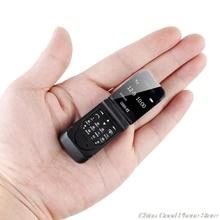 LONG CZ J9 미니 블루투스 플립 2G 전화 다국어 음성 변경 블루투스 다이얼러 이어폰 300mAh 0.66 인치 키즈 미니 전화