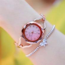 BS Classic Waterproof Starry sky Quartz wrist watches Women Bracelet Clock Noble Lady Watch Montre Femme Reloj Mujer Horloge W5 noble lady crystal quartz wrist watch white strap