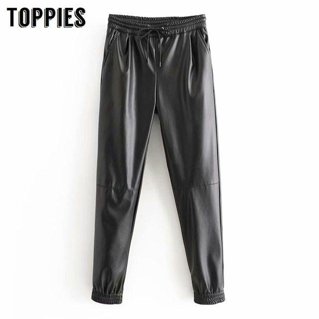 Winter Faux Leather Pants 1