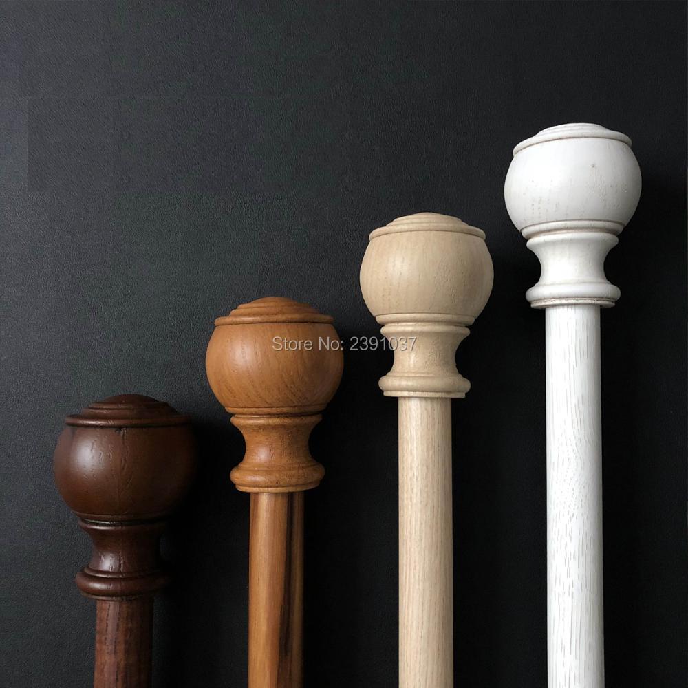 high grade wood grain double curtain rod white curtain rod set rome pole aluminum alloy mute curtain pole