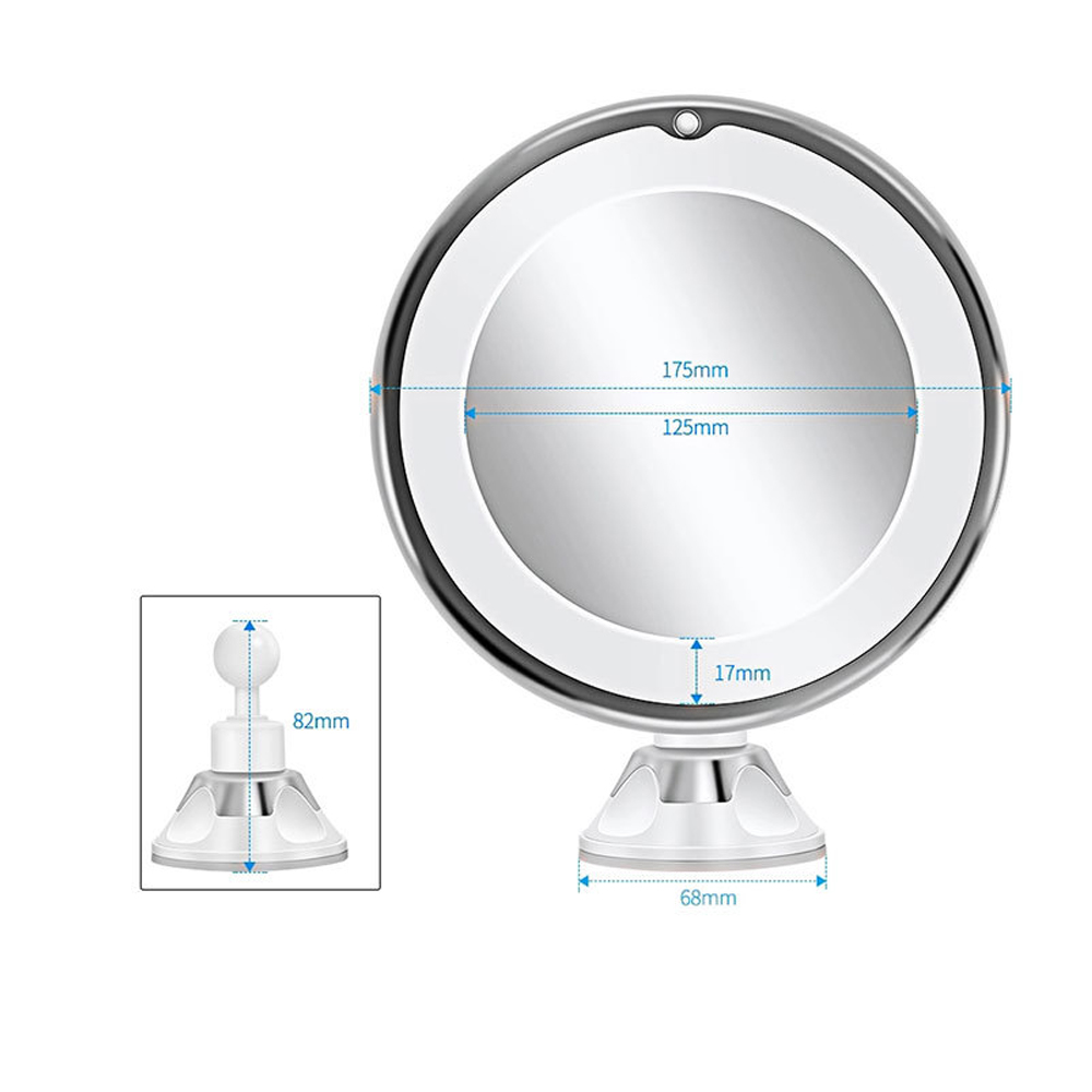 10X Magnifying Mirror makeup Light LED Magnifier Vanity Lamp 360 Degree Rotation Rotating Dressing Table Lighting 4