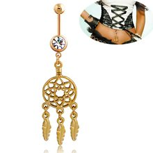 MISANANRYNE Sexy Belly Button Rings Belly Piercing Crystal Dream Catcher Body Jewelry Navel Piercing Rings Body Accessories(China)
