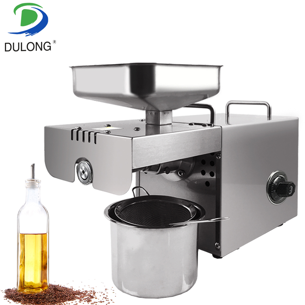 Home Small Hot Cold Oil Press Machine Peanut Oil Presser Expeller Rape Seeds Oil Extractor Peanut Coconut Oil Extraction Machine