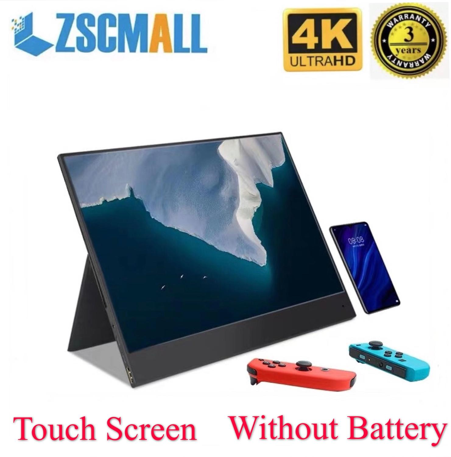 "Portable Monitor 15.6"" 4K Screen Ultra-light and ultra-thin Gaming Monitor IPS1080p display for PS4 Laptop Phone Xbox Switch Pc image"