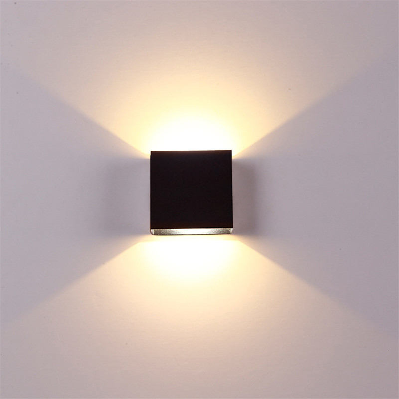 Indoor 6W LED Wall Lamps AC85-265V Aluminum Decorate Wall Sconce Bedroom LED Wall Light Warm White /Natural White / Cold White