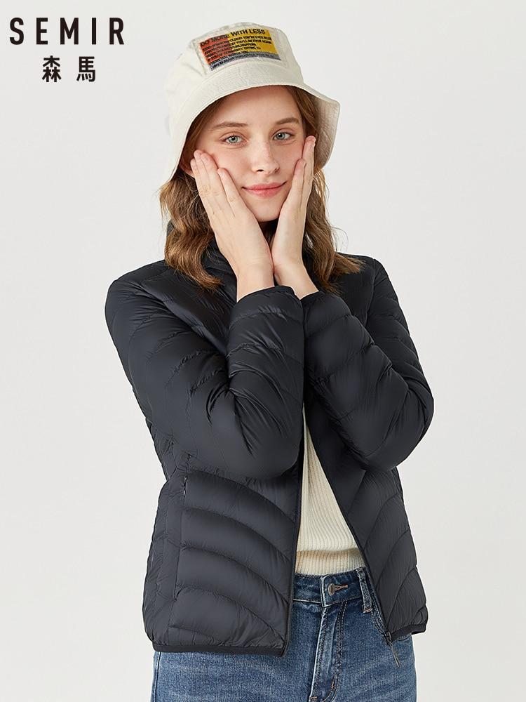 SEMIR Down Jacket Women 2019 Winter New Thin Short Coat Fashion Korean Version Trend Woman Fashion Keep Warm Coat Woman