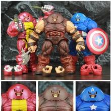 """X homem colosso capitão américa juggernaut 10 """"figura de ação 22cm ms ko diamante selecionar dst x froce lendas brinquedos boneca modelo"""