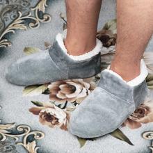 Kapcie do domu męskie duże rozmiary 48 kapcie zimowe dla mężczyzn zamszowe pluszowe buty z podeszwą leniwe buty miękkie ciepłe skarpetki kapcie tanie tanio Risstarser podstawowe CN (pochodzenie) Indoor flokowane Mieszkanie (≤1cm) Dobrze pasuje do rozmiaru wybierz swój normalny rozmiar
