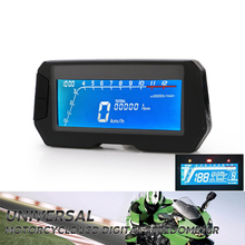 12000 RPM 6 Gear Universal Motorcycle Instrument LCD Digital Speedometer Odometer For 2,4 Cylinders Tachometer Speed adjutable