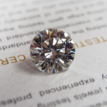 7.5mm DEF 둥근 백색 MoissaniteSynthetic Moissanite 다이아몬드 1.5 캐럿 moissanite 돌