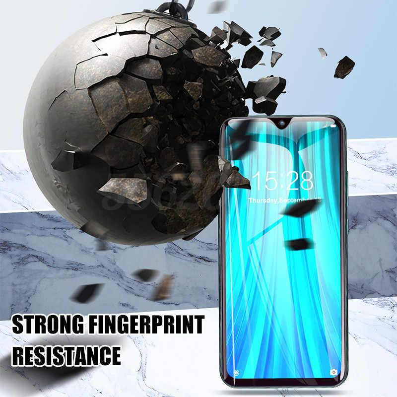 غطاء كامل الزجاج المقسى ل شاومي Redmi نوت 7 8 برو 8T 9s 9 برو ماكس حامي الشاشة ل Redmi نوت 9 8 Redmi 9A فيلم الزجاج