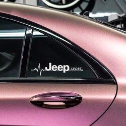 2 pçs estilo do carro esporte emblema traseiro windows lado corpo decoração adesivo decalque para jeep chrysler grand cherokee wrangler compa