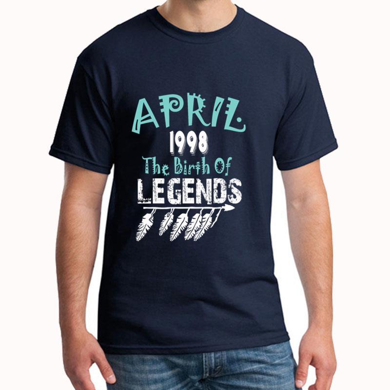 Spersonalizowane kwiecień 1998 narodziny legend t shirt XXXL 4Xl 5XL fajne nowości streetwear męskie koszulki prezent hip hop