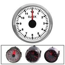0 12 stunden Meter Gauge Uhr Rot Hintergrundbeleuchtung Gauge Mit Multi steckdose