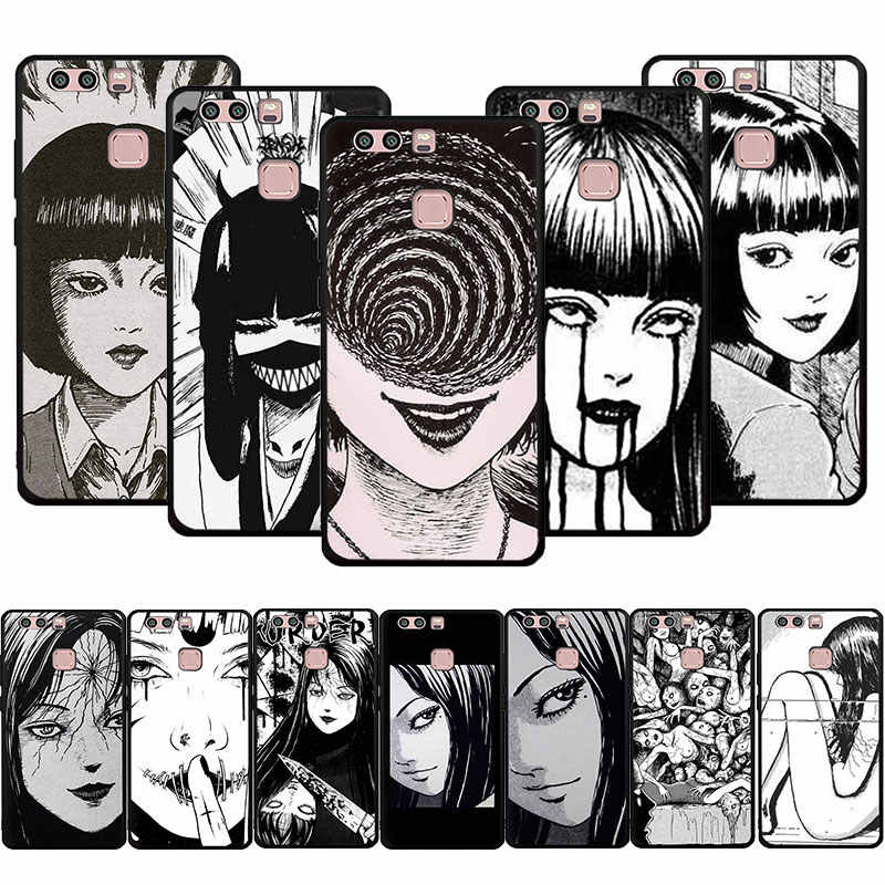 horror comic junji ito Tomie Tees Soft Phone Cover Case for Huawei P8 9 10 20 30 Lite Pro P Smart Z 2019