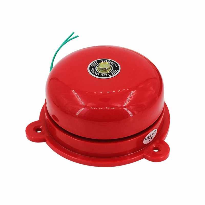 Tradisi Electric Bell 2 Inch 220vac 20 W 96DB Alarm Bell Kualitas Tinggi Sekolah Alarm Kebakaran Bentuk Bulat Electric Bell merah