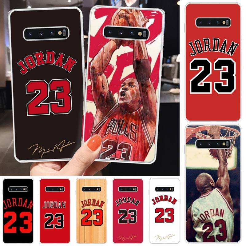 Jemy Basketball <font><b>Jordan</b></font> 23 Coque Shell Telefon Fall Für <font><b>Samsung</b></font> S5 6 7 8 9 10 S8 S9 S10 plus s10E lite S10-5G S20 UITRA plus image