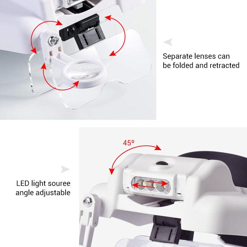 lupa com lente intercambiável ferramenta do watchmaker