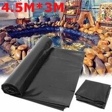 4,5X3 м рыбный пруд материал для подкладки домашний садовый бассейн усиленный HDPE тяжелый Ландшафтный бассейн пруд водонепроницаемый материал для подкладки Черный