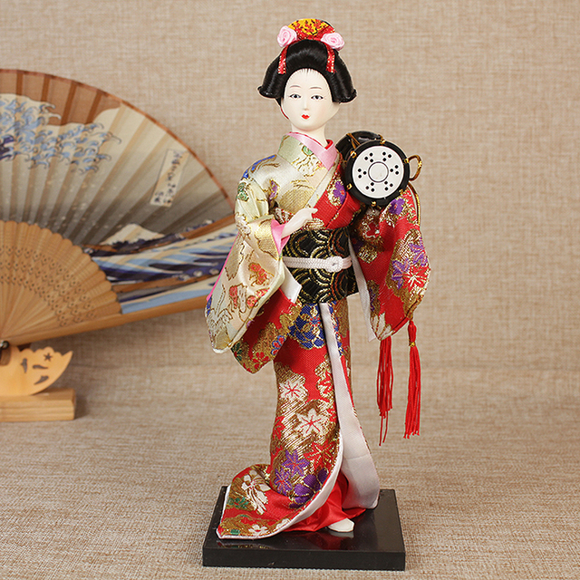 30cm Traditional Japanese Geisha Figurines Statues Japanese Kimonos Dolls Ornaments Home Restaurant Desktop Decoration Gifts 6