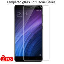 ZOKTEEC 2Pcs HD Tempered Glass For Xiaomi Redmi 4X 4A Note 5A prime 5 plus pro 4 Screen Protector Toughened Film
