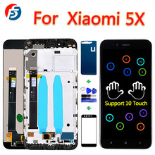 10 Point Touch Screen For Xiaomi Mi 5X LCD Display 5.5 inch Digitizer Assembly For Xiaomi A1 Frame with Glass film And Tools(China)