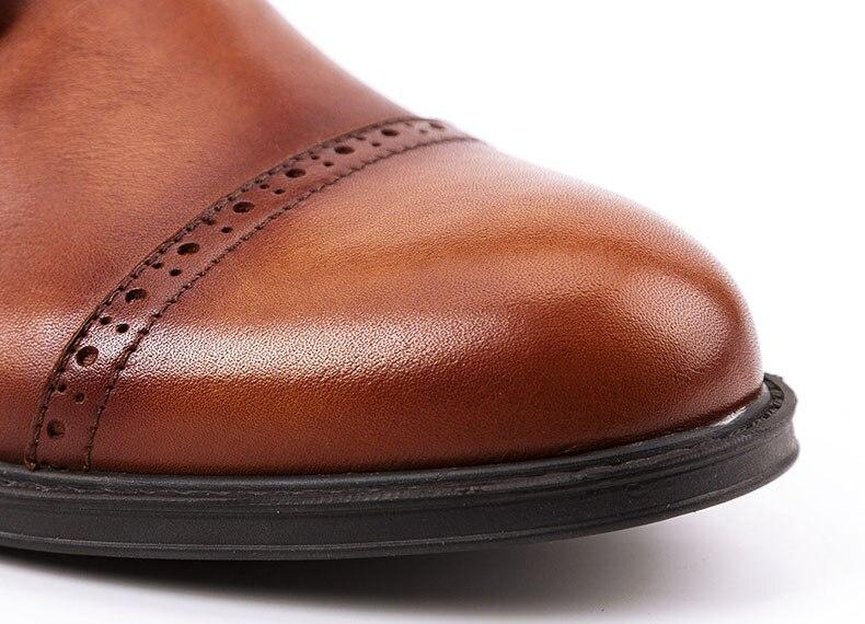 Мужские ботинки из натуральной коровьей кожи; цвет коричневый, черный; модные повседневные кожаные рабочие ботинки Martin; мужские уличные кро... - 6