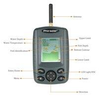 Draadloze Fishfinder Diepte Alarm Detector Visgerei Draagbare Sonar Sensor Outdoor 125KHz Vissen Finder Pesca-in Viszoekers van sport & Entertainment op