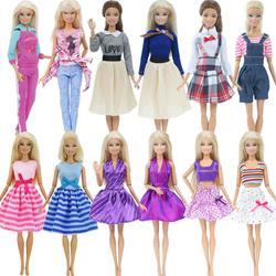 Набор игрушек для кукол, мини-платье ручной работы, Короткие штаны с юбкой, Одежда для кукол Барби, аксессуары для дома, Детская игра, 2 шт.