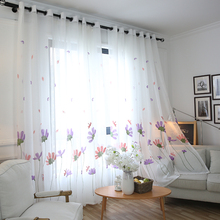 Modern Floral White Sheer Curtains For Living Room Bedroom Embroidered Flower Curtains For Kitchen Window Tulle Curtains Panel цена и фото