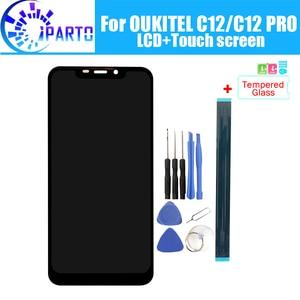 Image 1 - OUKITEL C12 ЖК дисплей + сенсорный экран 100% оригинальный протестированный ЖК дигитайзер стеклянная панель Замена для OUKITEL C12 PRO