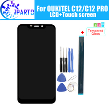 OUKITEL C12 LCD 디스플레이 + 터치 스크린 OUKITEL C12 PRO 용 100% 오리지널 테스트 LCD 디지타이저 유리 패널 교체