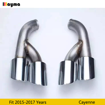 Electroplate Tail Exhaust Tips Muffler Pipe For Porsche Cayenne 2015 2016 2017 year Cayenne Stainless steel mufflers