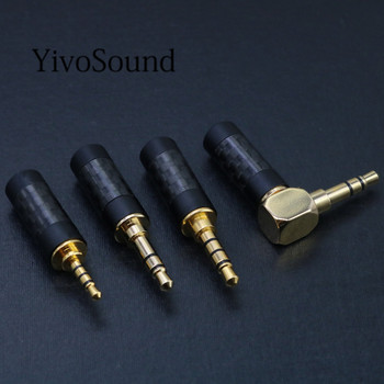 цена на Gold Plated 2.5mm / 3.5mm / 4.4mm 3 4 Pole Stereo Jack HiFi Balanced Earphone DIY Audio cable aux Copper Plug Solder Connector