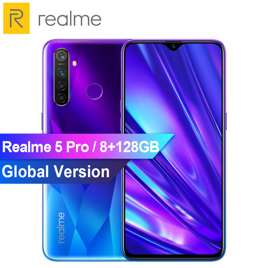 Global Version Realme 5 Pro Snapdragon 712A IE Mobile Phone 8GB 128GB 6.3