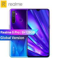 "Global Version Realme 5 Pro Snapdragon 712A IE Mobile Phone 8GB 128GB 6.3"" 48MP AI Quad Camera 4035mAh 20W VOOC Flash Charge 3.0"