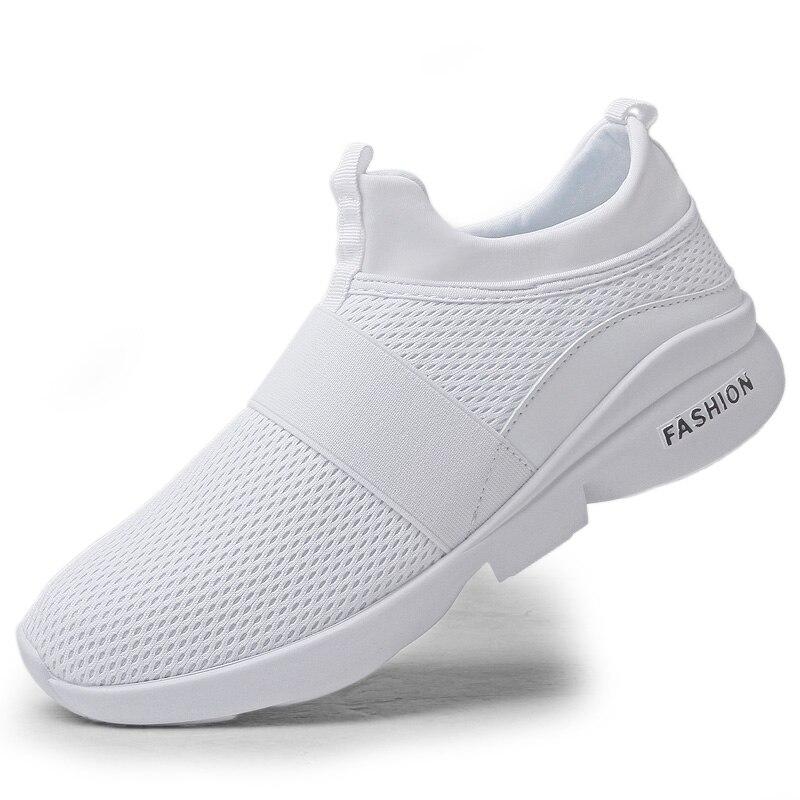 H0a6079d7b5d84231864e825d0f43a410T Flyknit Men Shoes Light Sneakers Men Breathable Jogging Shoes for Men Rubber Tenis Masculino Adulto Plus 35 46 48