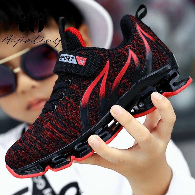 2020 primavera respiravel criancas sapatos meninos sapatos esportivos marca moda criancas tenis para meninas grandes criancas