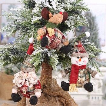 クリスマス人形おもちゃサンタサンタクロースクリスマスヘラジカクリスマスツリーハンギングオーナメントクリスマスの装飾パーティーナヴィダード Christma ギフト