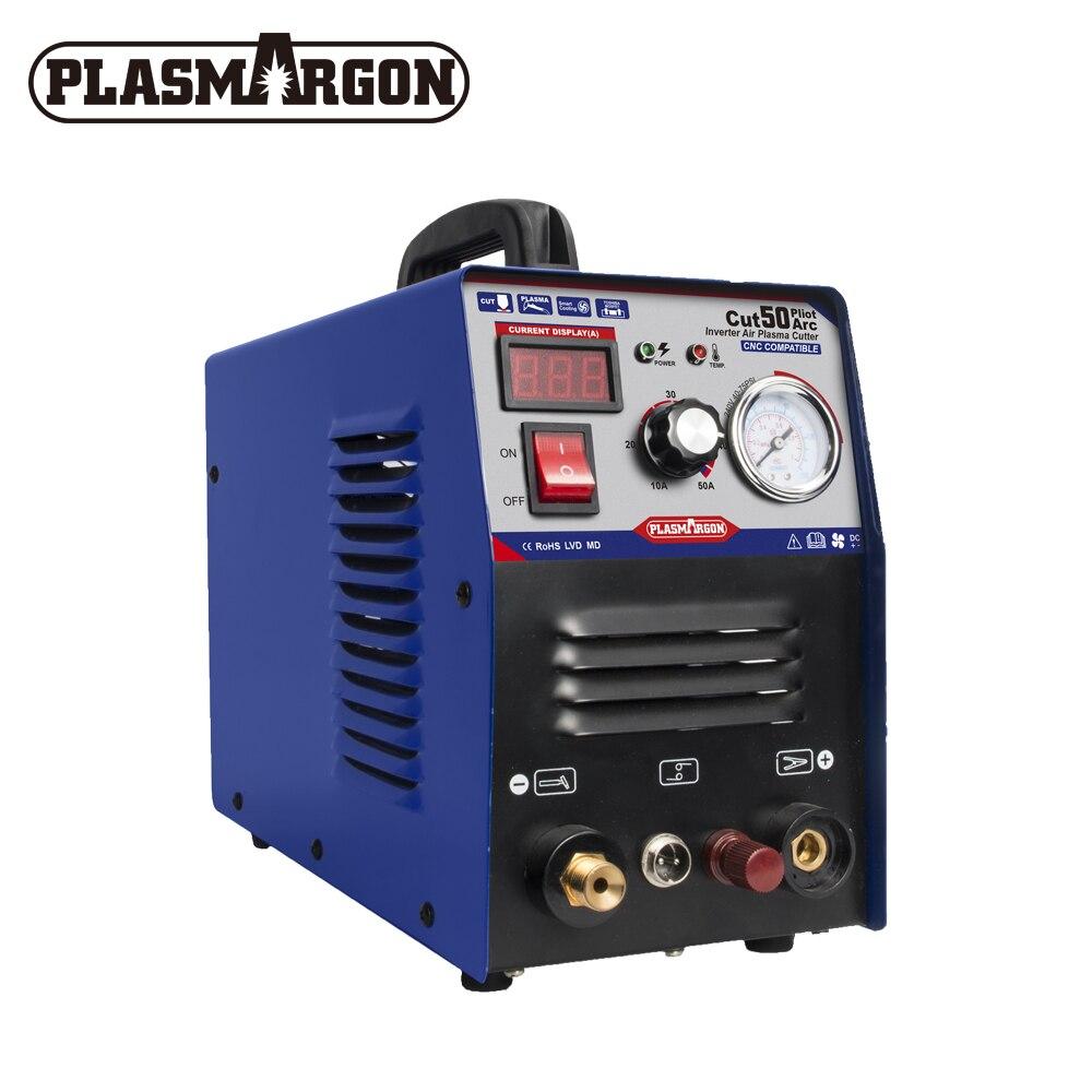 Homehold 50A Air Plasma Cutter Metall Maschine Pilot Arc CNC Kompatibel CUT 1-12mm