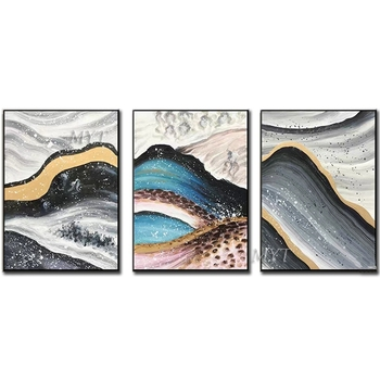 Mountains And Rivers Abstract Oil Painting Wall Art Home Decor Picture Modern Oil Painting On Canvas Wedding Decoration Unframe