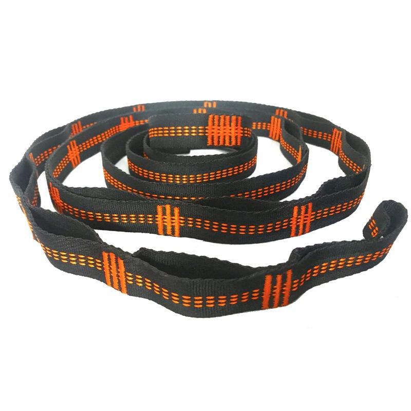 BMBY-Outdoor Hammock Tree Straps Tree Tie Rope High Load-Bearing Nylon Webbing Rock Climbing Flat Belt Cover