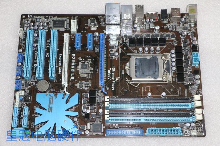 ASUS motherboard LGA 1156 DDR3 P7P55D LE USB2.0 I3 I5 I7 CPU 16GB P55 mainboard Área de trabalho