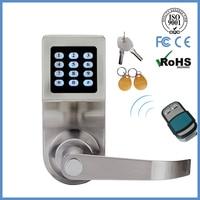 LACHCO Hide Key Digital Keypad Door Lock Remote Control+Password+Card+Key Spring Bolt Smart Electronic Lock L16086BSRM