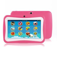 цена на 7 Inch Quad Core Kids Children Tablet PC 1GB RAM+8GB ROM Professional Learning Education Tablet Computer for Android 4.4