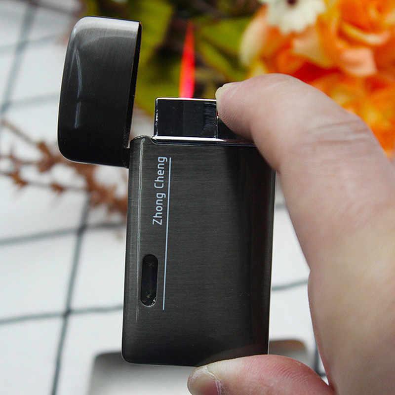 แก๊สหน้าต่าง Turbo ไฟฉาย Ultra บางไฟฟรี Jet แก๊สซิการ์โลหะ Lighter 1300 C Windproof Gadget ท่อของขวัญ
