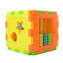 Baby Multi Shape Sorter Intelligence Box Cognitive Match Building Blocks Activity Cube Early Educational Toys For Children Gift 100pcs colorful wooded cube building blocks early educational blocks set for kids play intelligence toys