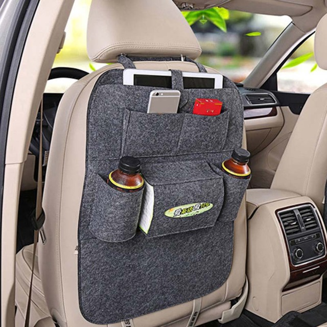 Car Rear Seat Storage  Box Multi pocket Storage Bag for Cadillac XTS SRX ATS CTS/Renault Koleos Fluenec Latitude