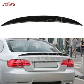 Carbon Fiber/FRP Black Rear Lip Spoiler For BMW E92 3 Series E92 M3/M Sport 328i 335i Spoiler 2006-2012 Boot Wings image