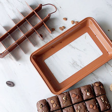 Baking Molds Grid Brownie Pan Carbon Steel Oven Tray Non-stick Bakeware Lightweight Fast Heat Conduction Cake Mold For Kitchen